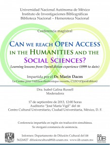 Can we reach Open Access in the Humanities and the Social sciences ?