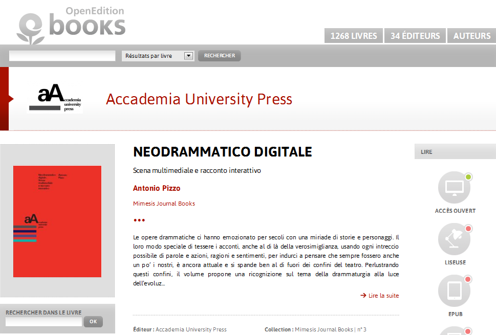 Neodrammatico digitale - Accademia University Press